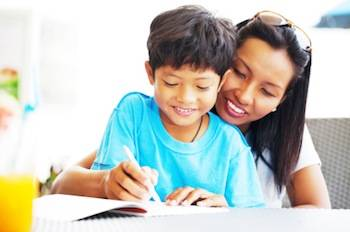 Optimized asian mother helping her son with his homework Eight Tips for Parents of Children with Learning Disabilities